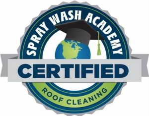 Spray Wash Academy's roof cleaning certification